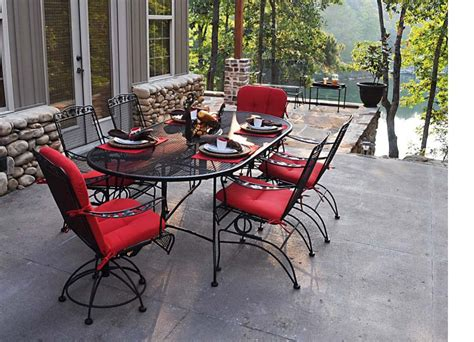 50 meadowcraft dogwood dining set wrought iron patio