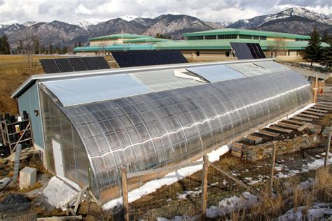 Geodome House by 73 Passive Solar Greenhouses Producing More Food With