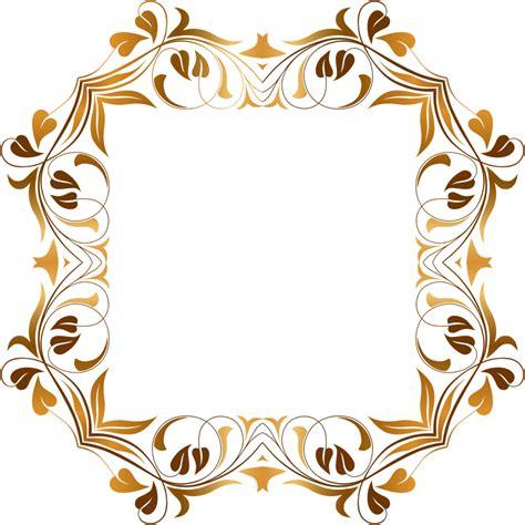 Yasin Modern Biru 1 clipart floral flourish frame