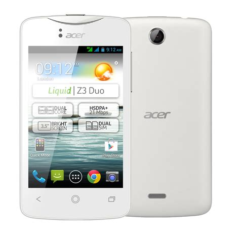 Hp Acer Liquid Z3 Duo acer liquid z3 duo pearl white mobile smartphone acer