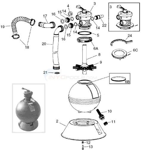sand filter parts diagram waterway clearwater sand filter top mount parts