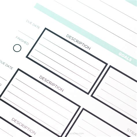 printable calendar room for notes editable 2017 simple monthly calendar and goal tracker