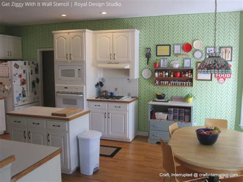 kitchen feature wall paint ideas hot stencil ideas for kitchens