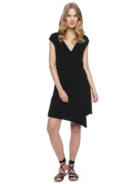 Assymetric Black Dress splendid asymmetrical dress in black lyst