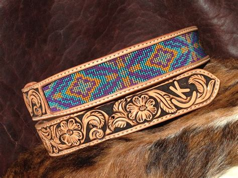 Handmade Beaded Belts - custom beaded belts custom leather belt tapered leather