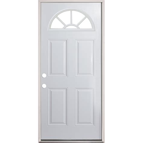 prehung steel exterior doors 32 quot fan lite prehung exterior steel door unit right