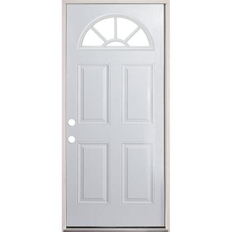 Exterior Door Units 32 Quot Fan Lite Prehung Exterior Steel Door Unit Right