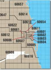Chicago Zipcode Map by Chicago Zip Codes On A Map