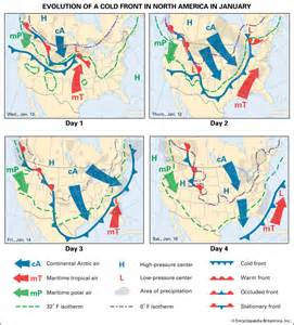 weather maps america weather evolution of a weather system america