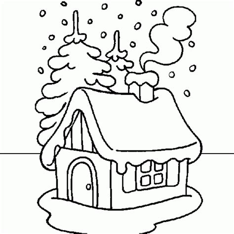 snowy house coloring pages christmas coloring drawing snowy house coloring website