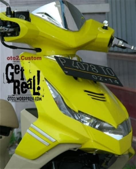 Motor Modif Skotlet Orange by Motorcycle Design Usa Honda Beat Mothai Look