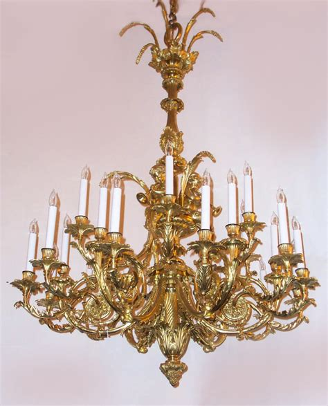 Gold Chandeliers Antique Louis 16th Gold Bronze Antoinette Chandelier Chb17 For Sale Antiques