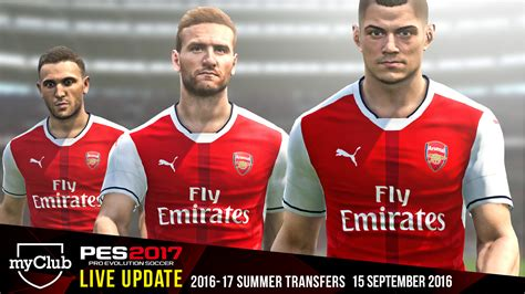 arsenal pes 2017 play with the most up to date player list from day 1 with