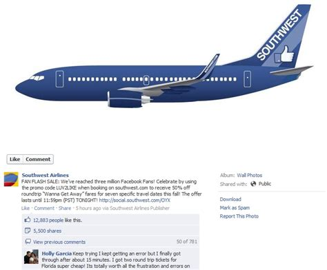 southwest sale southwest facebook flash sale epic fail rebecca murtagh