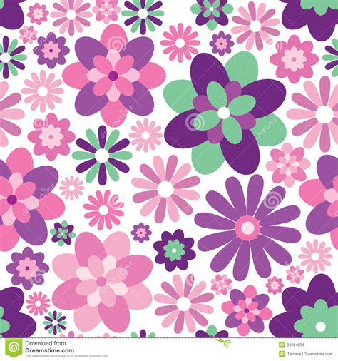 floral texture pattern vector floral seamless background gentle flower pattern stock