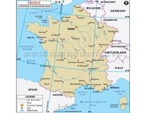 france latitude buy france latitude and longitude map