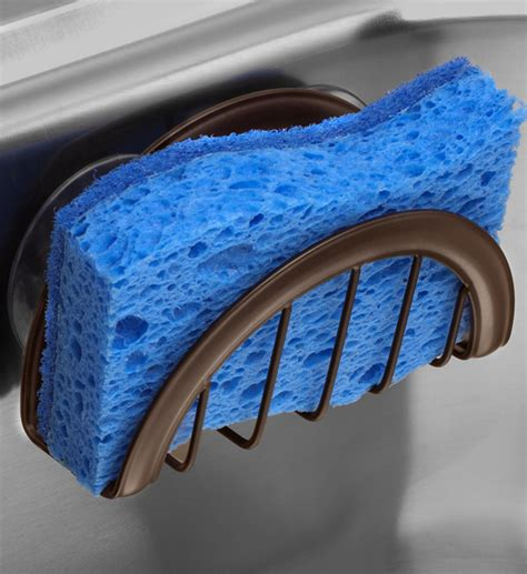 kitchen sink sponge holder in sink organizers