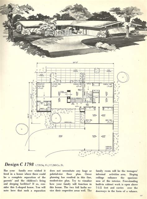 1960s house plans vintage house plans mid century homes 1960s houses