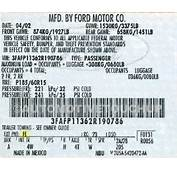 Ford Paint Code Locations  Touch Up AutomotiveTouchup
