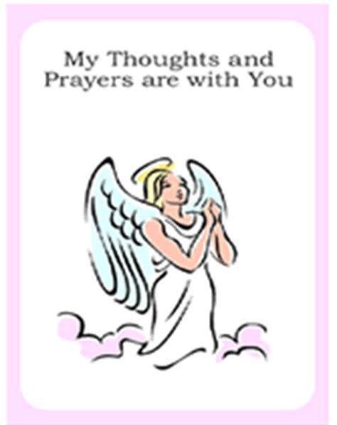 free printable sympathy card template praying my thoughts and prayers are with you
