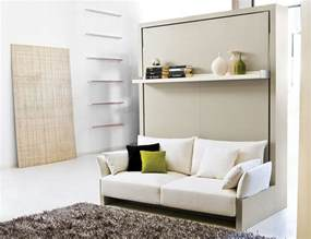 White Sofa In Living Room Transformable Murphy Bed Over Sofa Systems That Save Up On Ample Space