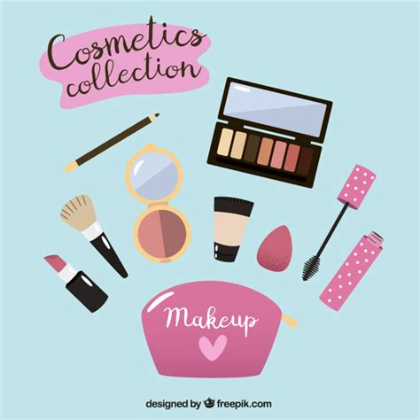 flat design video maker make up equipment in flat design vector free download