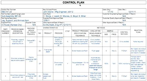 quality plan template exle quality assurance template excel exle free quality