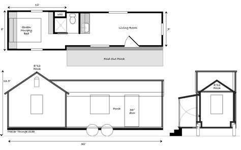 house trailer floor plans tiny houses tiny house design