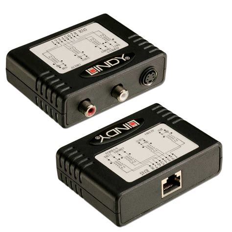 300m cat5e 6 s stereo audio extender from lindy uk