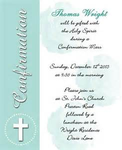 confirmation invitations templates unique wording sles and tips for confirmation invitations