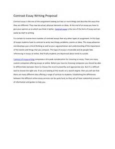 Contrast essay writing proposalcontrast essay is the one of the