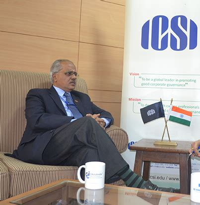 Icsi Exceptions For Mba by One To One Interaction With Icsi President Cs R Sridharan
