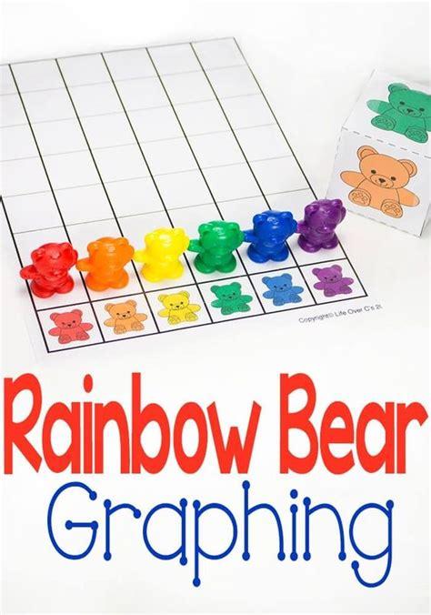 rainbow bear graph colors free printable themes free preschool graphs preschool