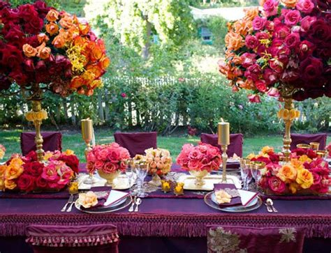 colour flower trends for 2012 uk wedding blog so you jewel tone color table setting asian wedding ideas