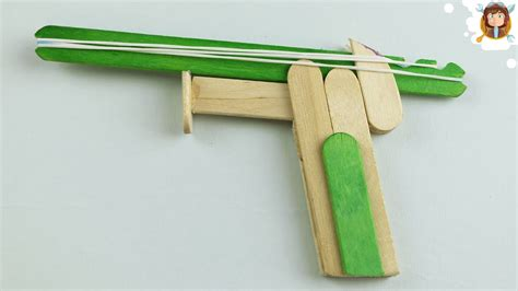 How To Make A Paper Rubber Band Gun - how to make a rubber band gun pocket pistol funnycat tv