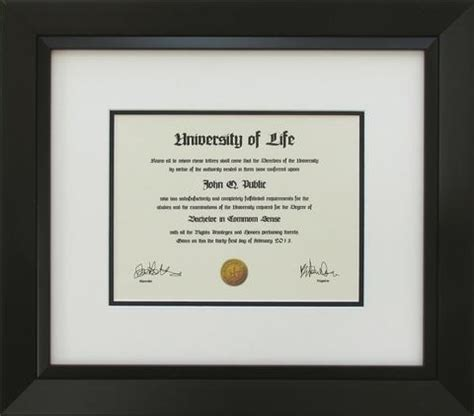 black wood diploma frame with mats and glass for 14x17