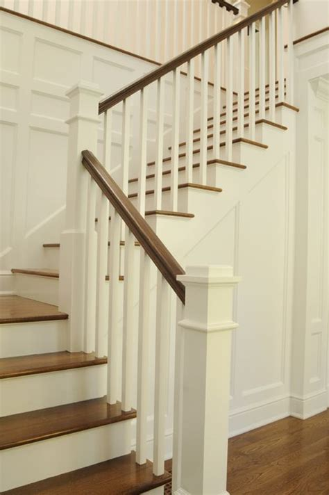 wooden stair rails and banisters marches et re avec une teinture semi transparente