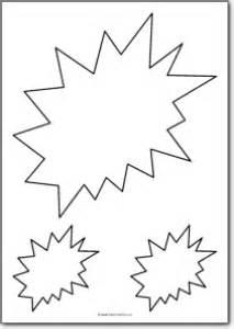 explosion template explosion shape free printables free printable shape