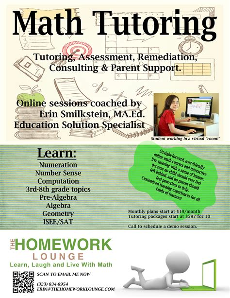 math tutoring flyer template math tutoring flyer the homework lounge