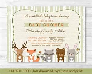 woodland creatures baby shower invitations dhavalthakur com