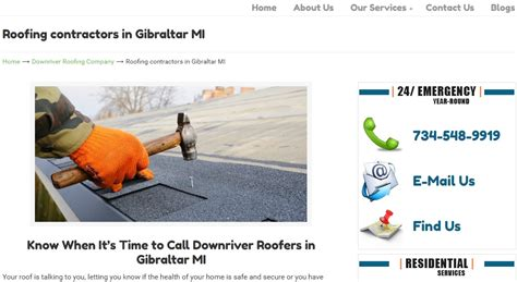 roofing contractros gibraltar michigan recognition