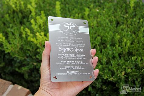 what does a wedding invitation look like 4x6 metal wedding invitation on behance