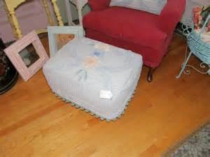 shabby chic ottomans shabby chic footstool ottoman vintage by vintagechicfurniture