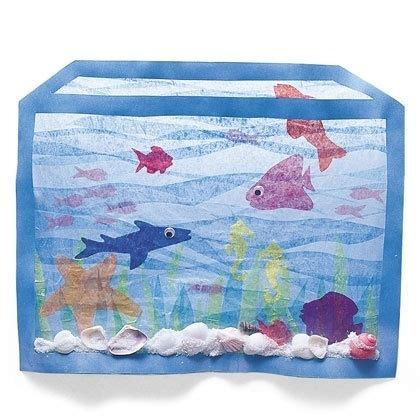 How To Make A Paper Aquarium - 17 best images about k 12 tissue paper on