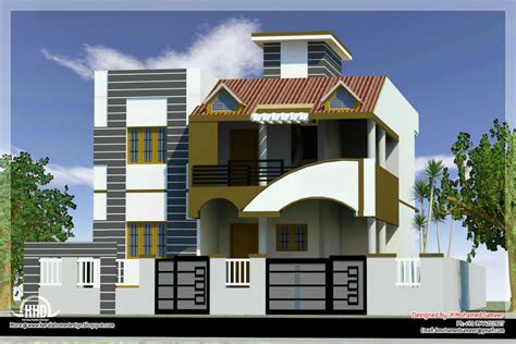 Designing Houses by Modern House Front Side Design India Elevation Design 3d