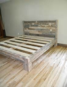 Platform Bed Frame King Diy 1000 Ideas About Diy Bed Frame On Pallet