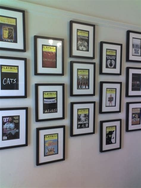 broadway themed bedroom best 25 playbill display ideas on hanging