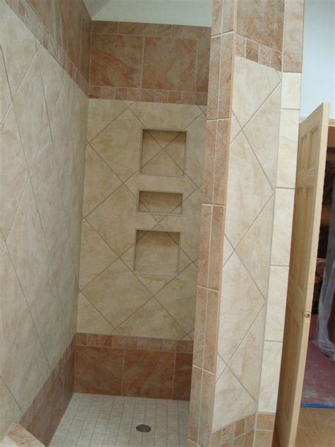 built in shower built in shower shelves bathroom ideas