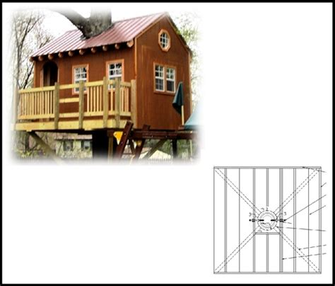 tree house plan 8 square treehouse plan standard treehouse plans attachment hardware