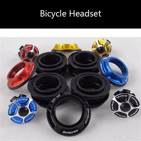 New Top Cap Headset Gineyea Tutup Headset gineyea balling gh186 headsets top cap 28 6mm fork 44mm